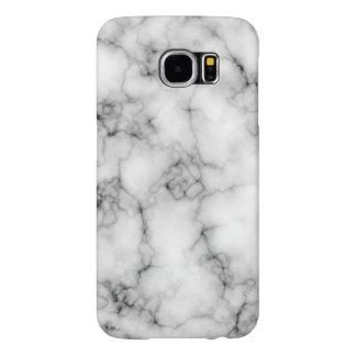 Capa Para Samsung Galaxy S6 Teste padrão de mármore branco realístico legal