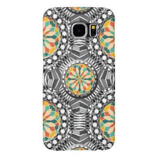 Capa Para Samsung Galaxy S6 Teste padrão geométrico chanfrado