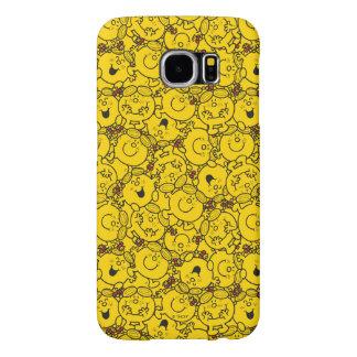 Capa Para Samsung Galaxy S6 Teste padrão pequeno dos sorrisos do amarelo do