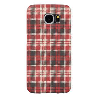 Capa Para Samsung Galaxy S6 Teste padrão vermelho e preto da xadrez