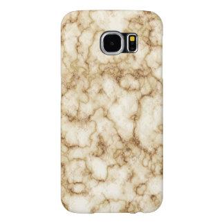 Capa Para Samsung Galaxy S6 Textura de mármore elegante