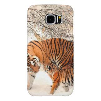 Capa Para Samsung Galaxy S6 Tigre e filhote - tigre