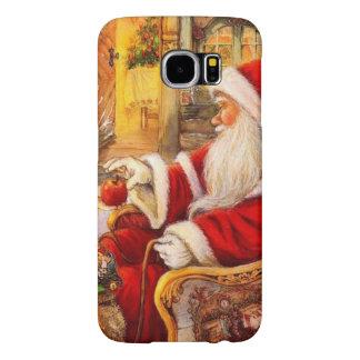 Capa Para Samsung Galaxy S6 Trenó do papai noel - ilustração de Papai Noel