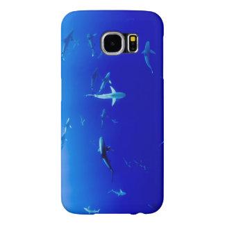 Capa Para Samsung Galaxy S6 Tubarões subaquáticos