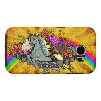 Capa Para Samsung Galaxy S6 Unicórnio, arco-íris & bacon impressionantes da