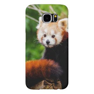 Capa Para Samsung Galaxy S6 Urso de panda vermelha bonito