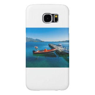 Capa Para Samsung Galaxy S6 Veado da aterragem e barco da velocidade