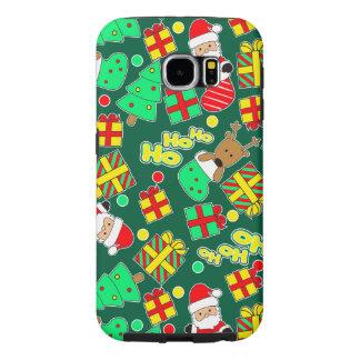 Capa Para Samsung Galaxy S6 Verde - Ho Ho papai noel