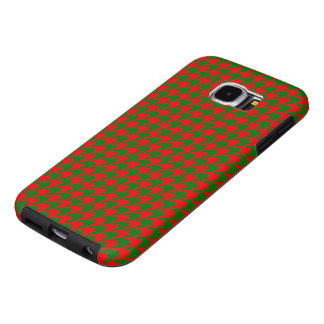 Capa Para Samsung Galaxy S6 Verificação vermelha e verde do Natal clássico de