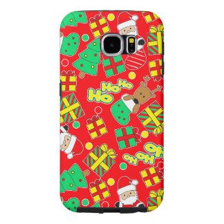 Capa Para Samsung Galaxy S6 Vermelho - Ho Ho papai noel