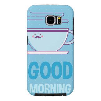 Capa Para Samsung Galaxy S6 Viciados do café do bom dia