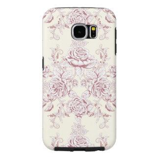 Capa Para Samsung Galaxy S6 Victorian, brandamente amarelo, brandamente rosa,