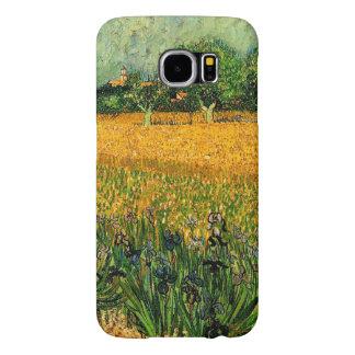 Capa Para Samsung Galaxy S6 Vincent camionete Gogh-Vista de Arles com íris