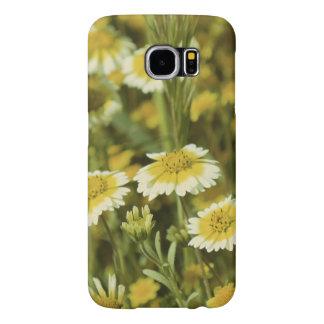 Capa Para Samsung Galaxy S6 Wildflowers amarelos e girassóis brancos