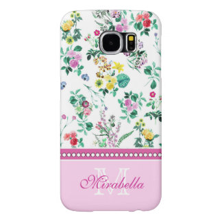 Capa Para Samsung Galaxy S6 Wildflowers & rosas amarelos vermelhos roxos