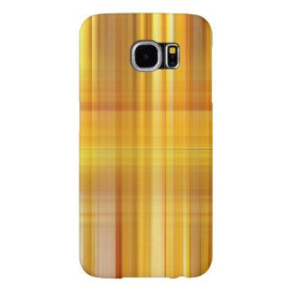 Capa Para Samsung Galaxy S6 Xadrez amarela