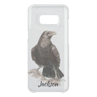 Capa Para Samsung Galaxy S8 Da Uncommon Arte da natureza do pássaro do corvo da aguarela