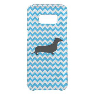 Capa Para Samsung Galaxy S8 Da Uncommon Azuis bebés Chevron com Dachshund