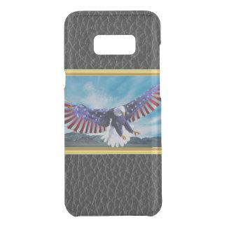 Capa Para Samsung Galaxy S8+ Da Uncommon Bandeira americana Eagle que voa na folha de ouro