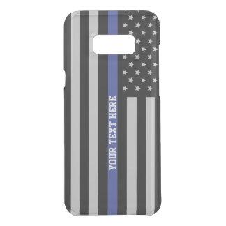 Capa Para Samsung Galaxy S8+ Da Uncommon Blue Line fino - costume personalizado da bandeira