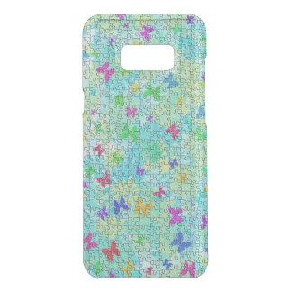 Capa Para Samsung Galaxy S8+ Da Uncommon Borboletas do quebra-cabeça e Margarida-Colorido