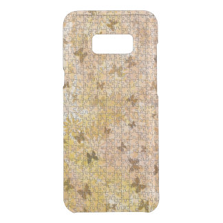 Capa Para Samsung Galaxy S8+ Da Uncommon Borboletas e Margarida-Marrons do quebra-cabeça