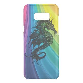 Capa Para Samsung Galaxy S8+ Da Uncommon Cavalo de mar no arco-íris