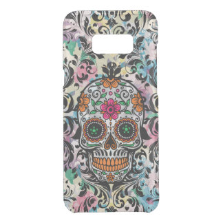 Capa Para Samsung Galaxy S8+ Da Uncommon Crânio floral floral do açúcar com redemoinhos