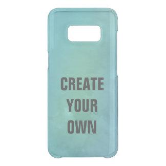 Capa Para Samsung Galaxy S8 Da Uncommon Criar sua própria pintura da aguarela de turquesa