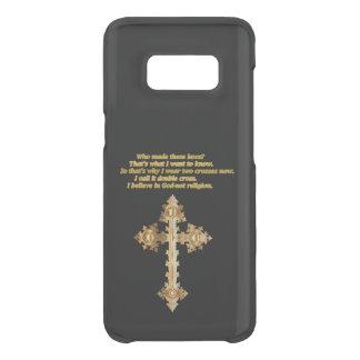 Capa Para Samsung Galaxy S8 Da Uncommon Cruz cristã do divertimento do ouro com provérbio
