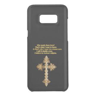 Capa Para Samsung Galaxy S8+ Da Uncommon Cruz cristã do divertimento do ouro com provérbio