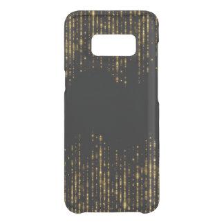 Capa Para Samsung Galaxy S8 Da Uncommon Design preto & Glam do brilho do ouro