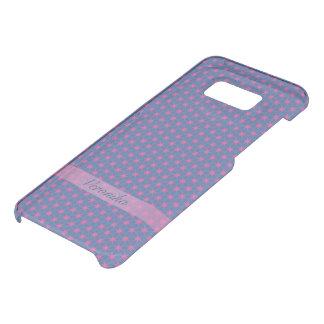 Capa Para Samsung Galaxy S8+ Da Uncommon Estrelas cor-de-rosa em um fundo azul