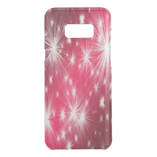 Capa Para Samsung Galaxy S8+ Da Uncommon Estrelas vermelhas do Natal com flocos de neve e