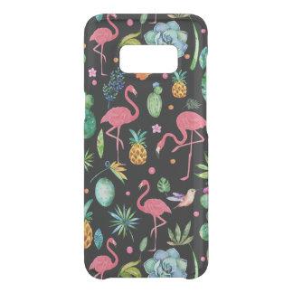 Capa Para Samsung Galaxy S8 Da Uncommon Flamingos cor-de-rosa & colagem tropical das