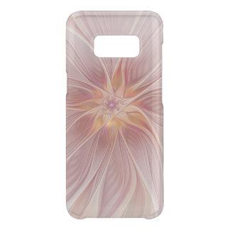 Capa Para Samsung Galaxy S8 Da Uncommon Flor moderna do abstrato floral cor-de-rosa macio