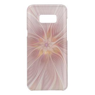 Capa Para Samsung Galaxy S8+ Da Uncommon Flor moderna do abstrato floral cor-de-rosa macio
