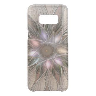 Capa Para Samsung Galaxy S8 Da Uncommon Fractal floral bege de Brown do abstrato alegre da