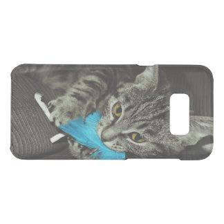 Capa Para Samsung Galaxy S8+ Da Uncommon Gato de gato malhado com a pena por Shirley Taylor