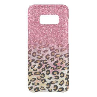 Capa Para Samsung Galaxy S8 Da Uncommon Impressão animal do leopardo cor-de-rosa do brilho