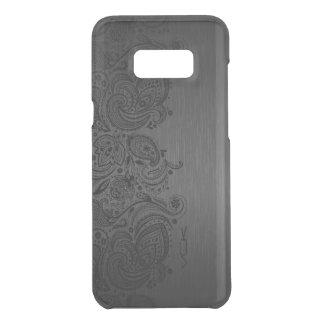 Capa Para Samsung Galaxy S8+ Da Uncommon Laço metálico de Paisley das cinzas & do preto