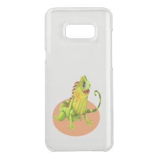 Capa Para Samsung Galaxy S8+ Da Uncommon Lagarto feliz verde adorável da iguana da natureza