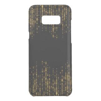 Capa Para Samsung Galaxy S8+ Da Uncommon Miçanga preta & Glam do brilho do ouro