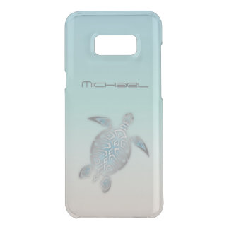 Capa Para Samsung Galaxy S8+ Da Uncommon Monograma claro de prata animal da tartaruga de