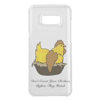 Capa Para Samsung Galaxy S8+ Da Uncommon Não conte suas galinhas antes que choquem