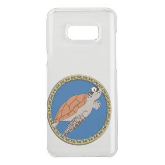 Capa Para Samsung Galaxy S8+ Da Uncommon Natação alaranjada da tartaruga de mar com um