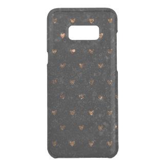 Capa Para Samsung Galaxy S8+ Da Uncommon O falso esmagou corações de cobre metálicos de