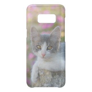 Capa Para Samsung Galaxy S8 Da Uncommon O rosa bicolor bonito do gatinho do gato floresce