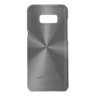 Capa Para Samsung Galaxy S8+ Da Uncommon Olhar de aço inoxidável 4 do teste padrão metálico