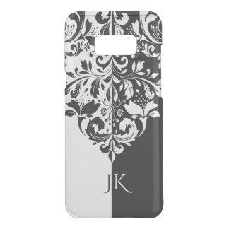 Capa Para Samsung Galaxy S8+ Da Uncommon Ornamento floral elegante da tela preta & branca